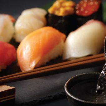 sushi-and-sake-at-honk