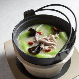 Luffa Melon & Pig's Stomach in Peppercorn Broth