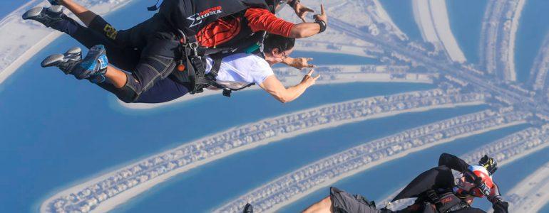sky-diving