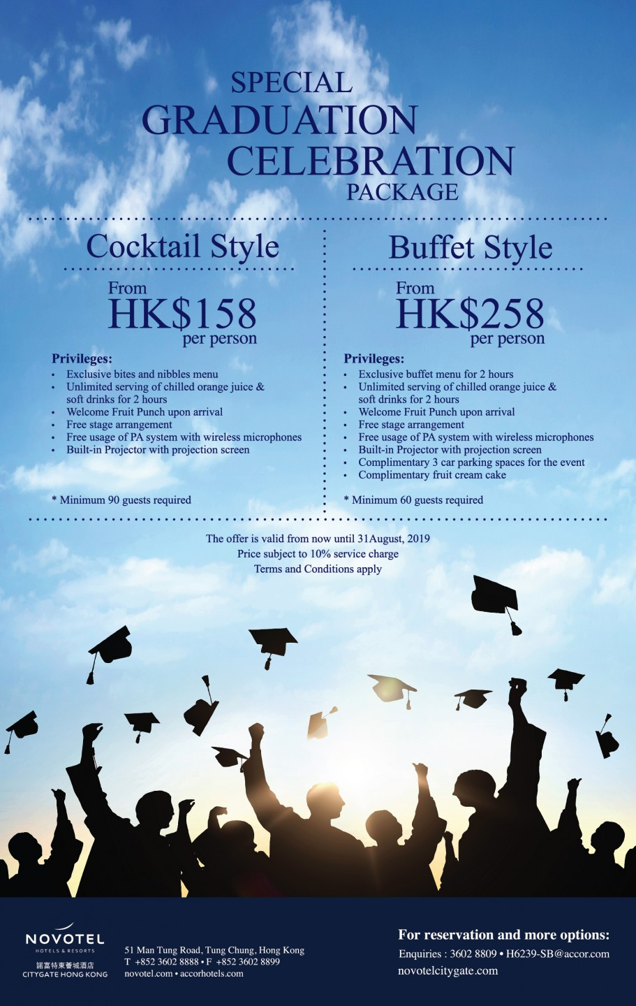 Special Graduation Celebration Package From HK$158 at Novotel Citygate Hong Kong in Tung Chung