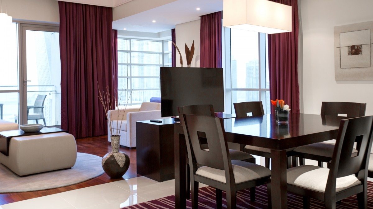 Pullman Dubai Jumeirah Lakes Towers Three Bedrooms Tower Suite Separate Living And Dining