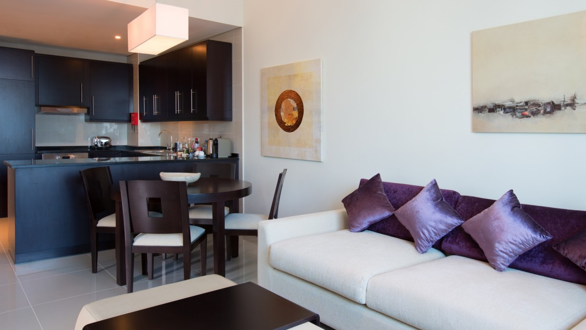 Pullman Dubai Jumeirah Lakes Towers One Bedroom Apartment Separate Living And Dining Room