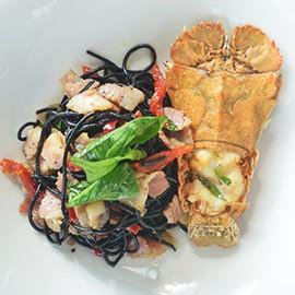 rock lobster & seafood lovers rock lobster pasta