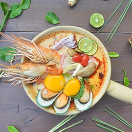 seafood paradise dinner buffet tom yum seafood