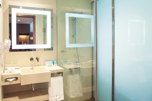 bathroom in superior hotel room