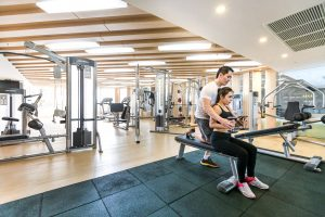 Personalised training session at the fitness center