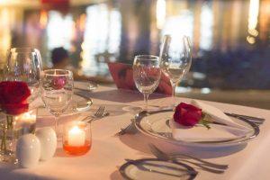 Romantic dinner set menu at the Rim Suan pool bar