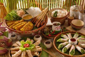 vietnamese-traditional-food-photo-special-event-bubbles-beats-brunch-pullman-danang-beach-resort-banh-xeo-pancake-lotus-rice-tea-nem-lui-tea-element-
