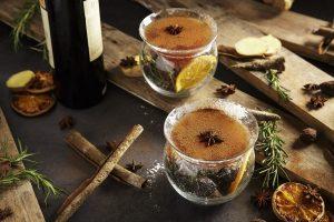 Whisky-Drambuie-Dubonnet-ginger honey- cinnamon powder