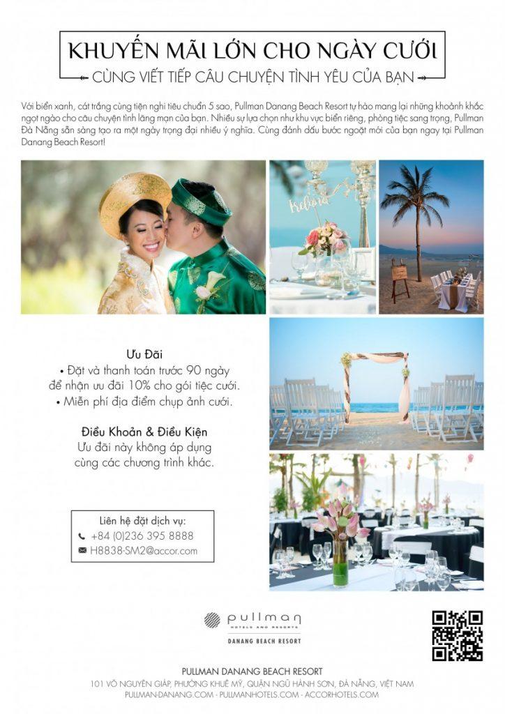 tổ chức đám cưới ở resort đà nẵng chi phí tổ chức đám cưới biển