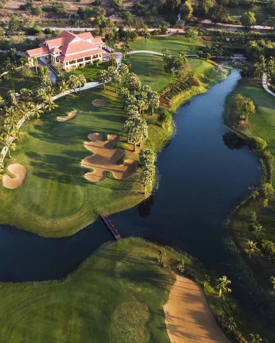 Golf course in cambodia