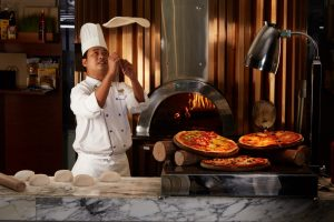 Pizza Station at Voila!