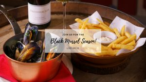 Black mussel season at L'Appart