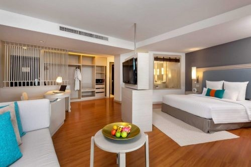 junior suite room at pullman phuket panwa beach resort