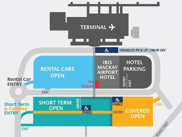 map of mackay qld airport and ibis mackay hotel
