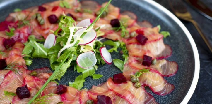 beetroot-flavored-scottish-salmon-carpaccio