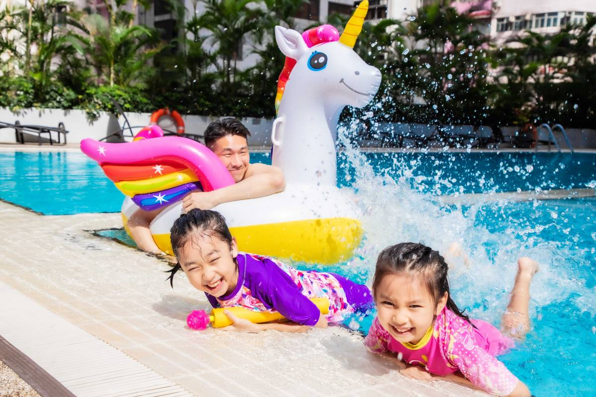 Novotel Century Hong Kong Family Staycation Kid Swimming Pool