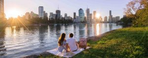 Romantic picnic for two by the Brisbane River