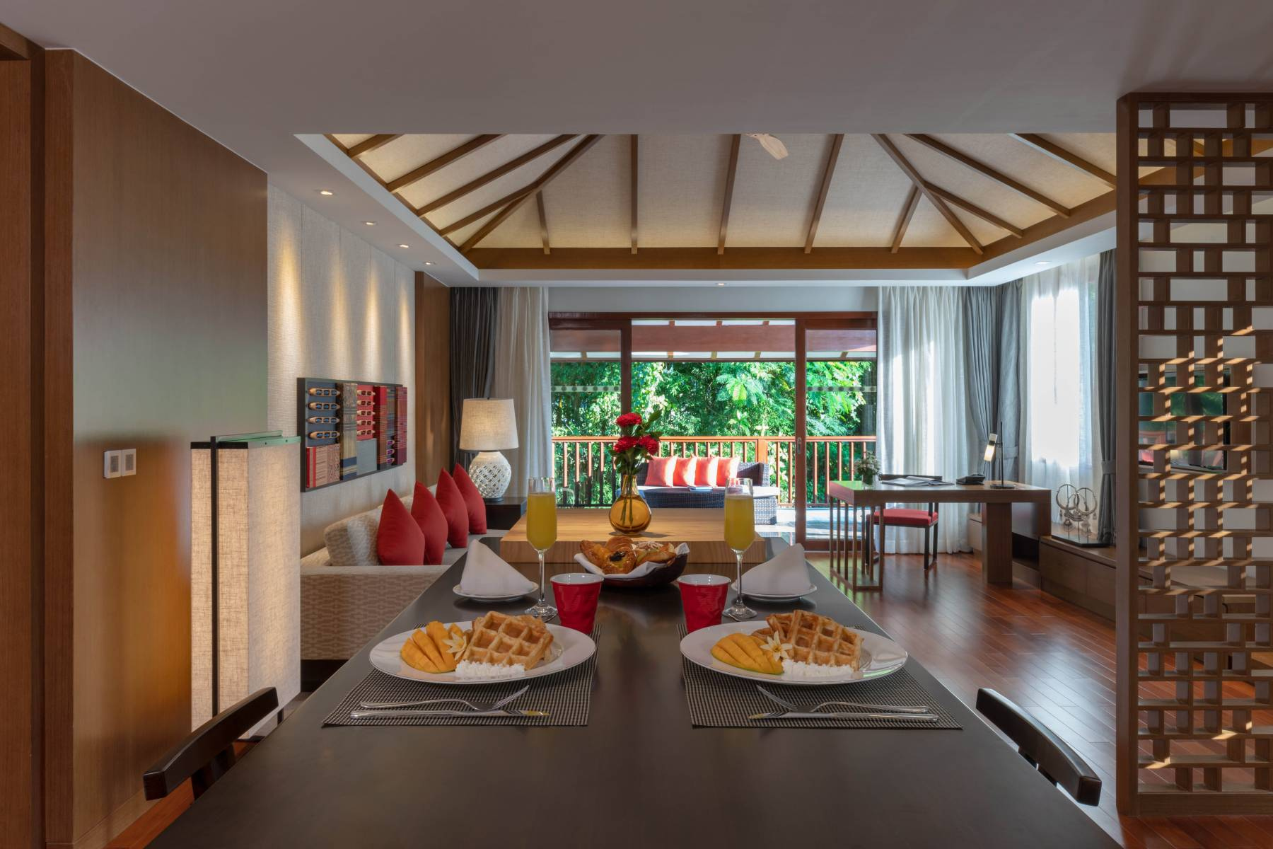 Breakfast in Premium Deluxe Suite at Pullman Luang Prabang Laos