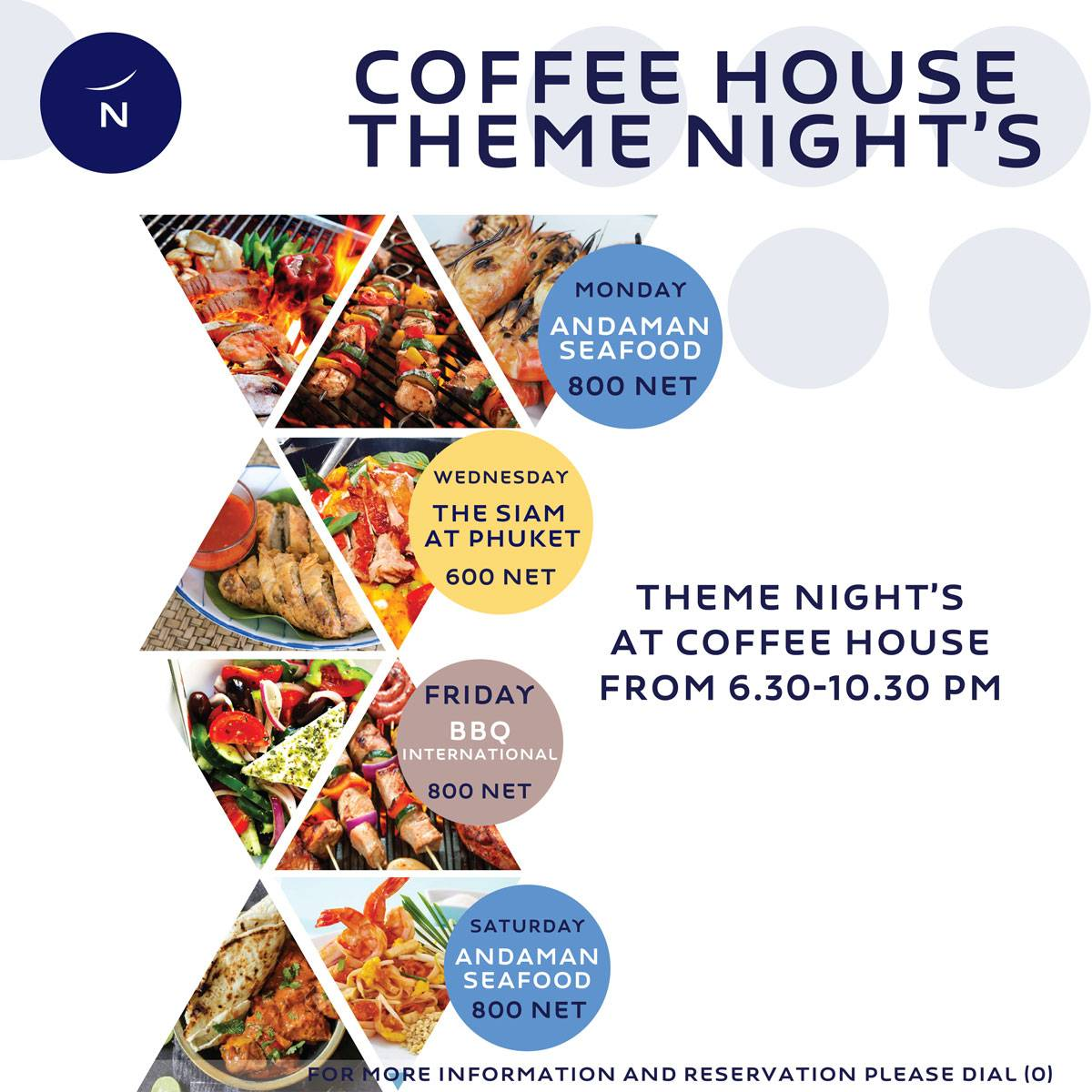 Buffet Theme Night's at Coffee House