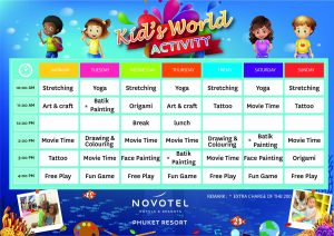 Kid's World Redeem your little one with fun and creative activities.
