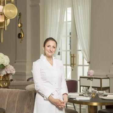 Chef Anne Sophie Pic at La Dame de Pic Raffles Singapore
