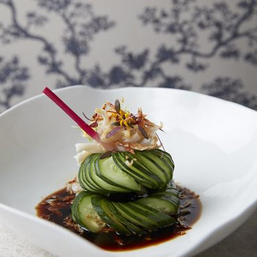 蓑衣黄瓜伴爽脆螺片 Hundred-ring Cucumber with Poached Sea Whelk