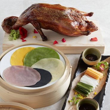 Golden-Roasted-Duck-with-Rose-Fermented-Bean-Sauce-and-Rainbow-Pancakes-2