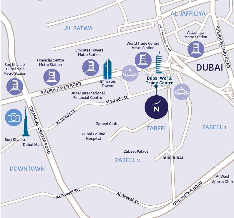 Map to Novotel World Trade Centre