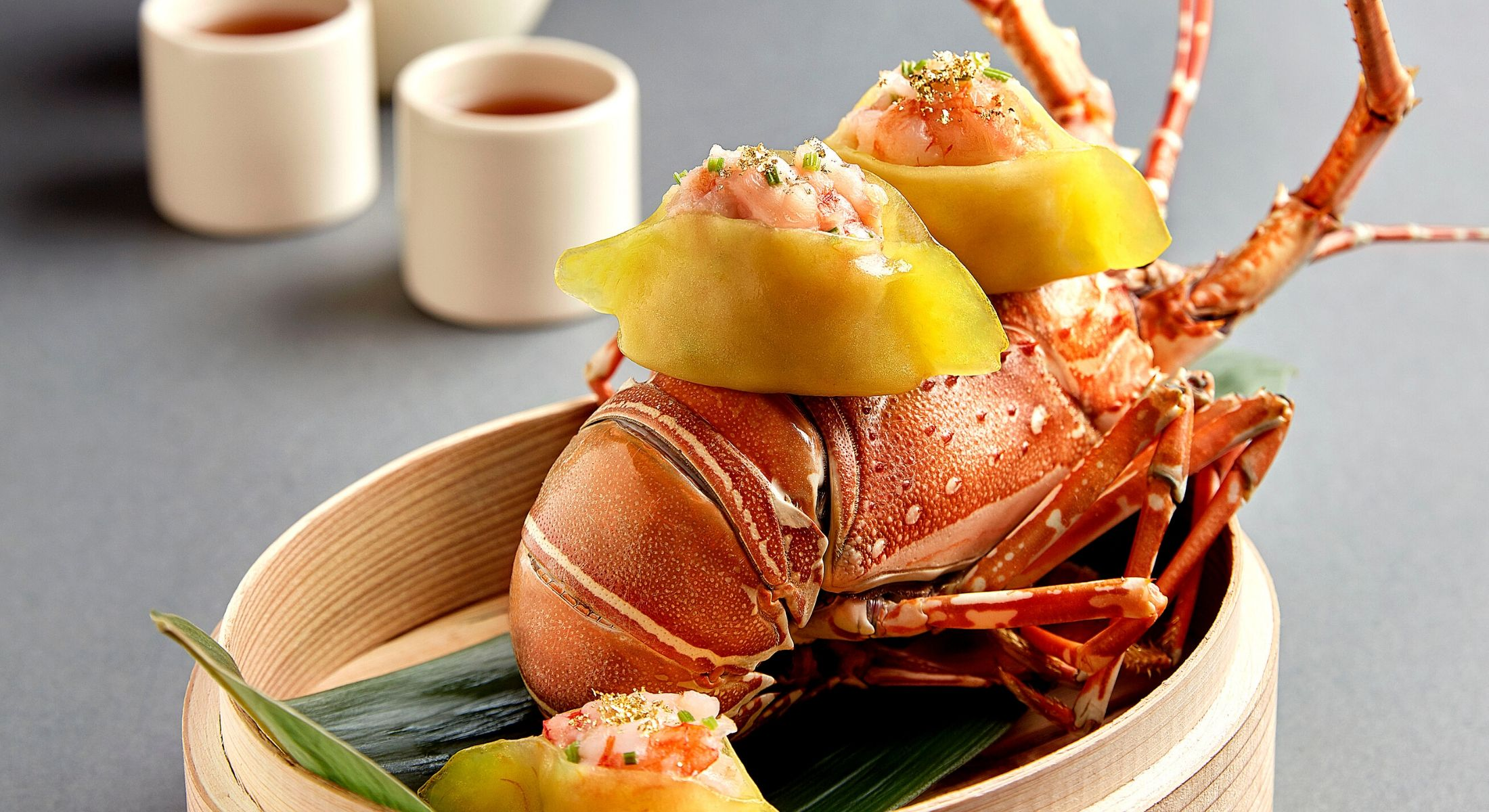 Fairmont Singapore Teochew Style Gold Leaf Lobster Dumpling