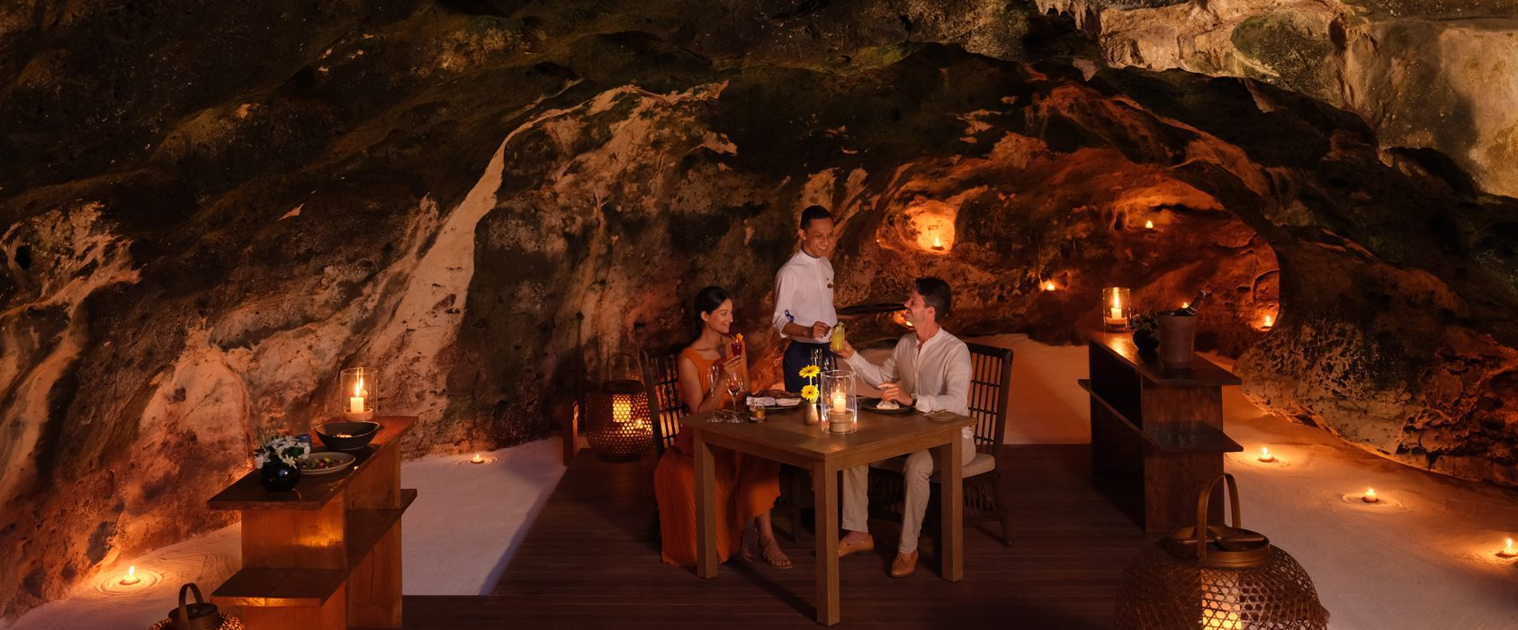 Raffles Bali - An Intimate Dinner at The Secret Cave