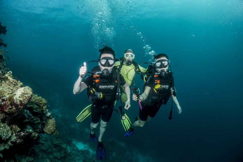 Diving at Mercure Maldives Kooddoo
