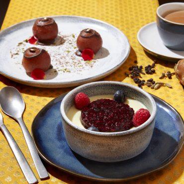 Chocolate Gulab Jamun & Phirni Brulee
