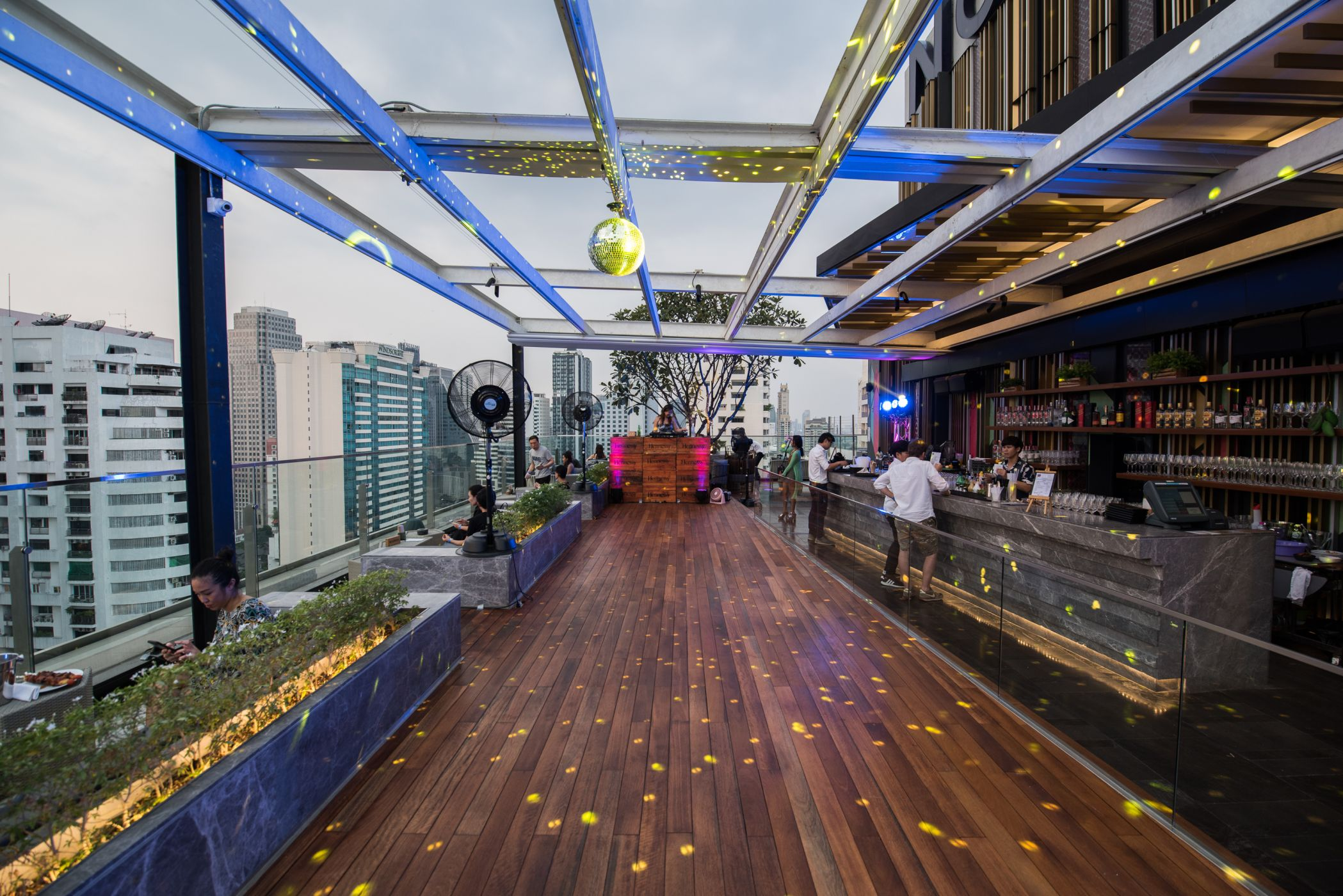 rooftop bar at Sky On 20