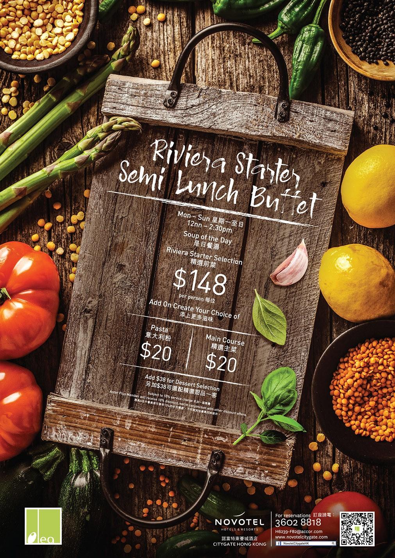 Novotel Citygate︱Olea - Riviera Starter Semi Lunch Buffet