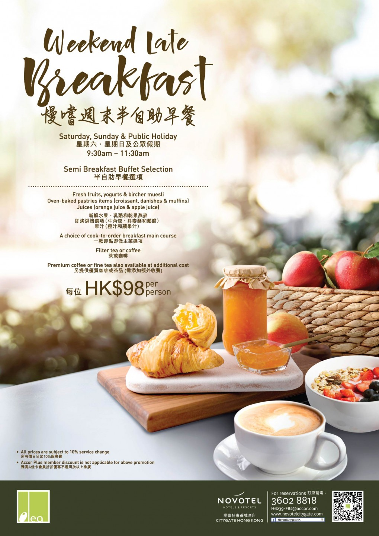 Novotel Citygate︱Olea - Weekend Late Breakfast