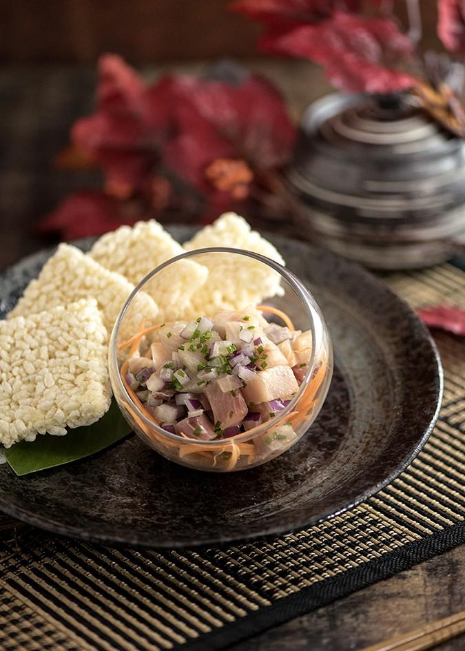 202009 東涌諾富特東薈城酒店︱Essence - 油甘魚與海螺自助餐_油甘魚他他伴脆米