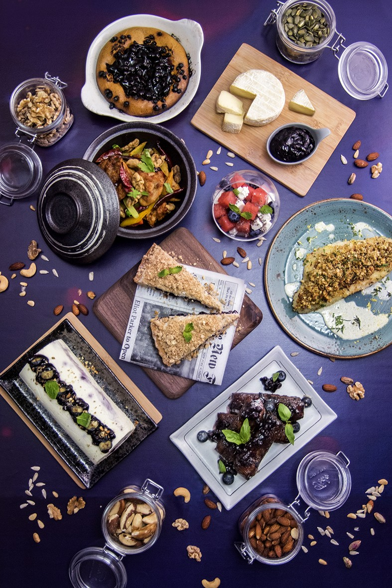 Nuts & Blueberry Weekend Afternoon Tea Buffet - Highlight dishes