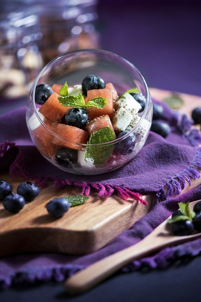 Nuts & Blueberry Weekend Afternoon Tea Buffet - Blueberry with Fate Cheese Salad