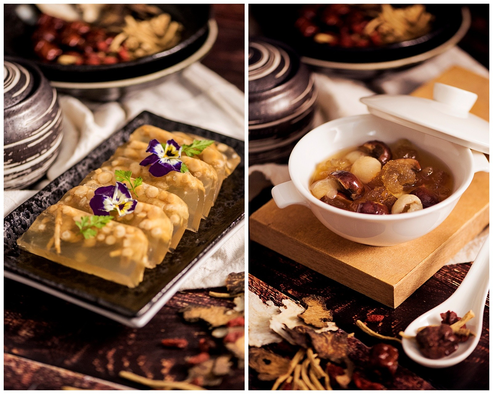 Essence of Winter buffet dishes