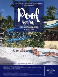 Pool Foam Party | Novotel Phuket,Surin Beach Resort