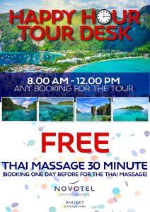 Tour desk promo - FREE massage