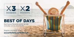 X2 REWARDS POINTS ON WEEKDAYS AND X3 REWARDS POINTS ON WEEKENDS