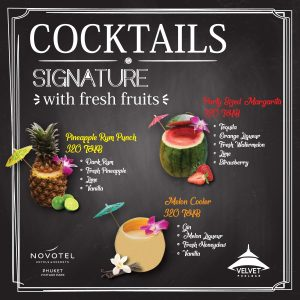Get a fresh fruit experience with our new signature cocktails