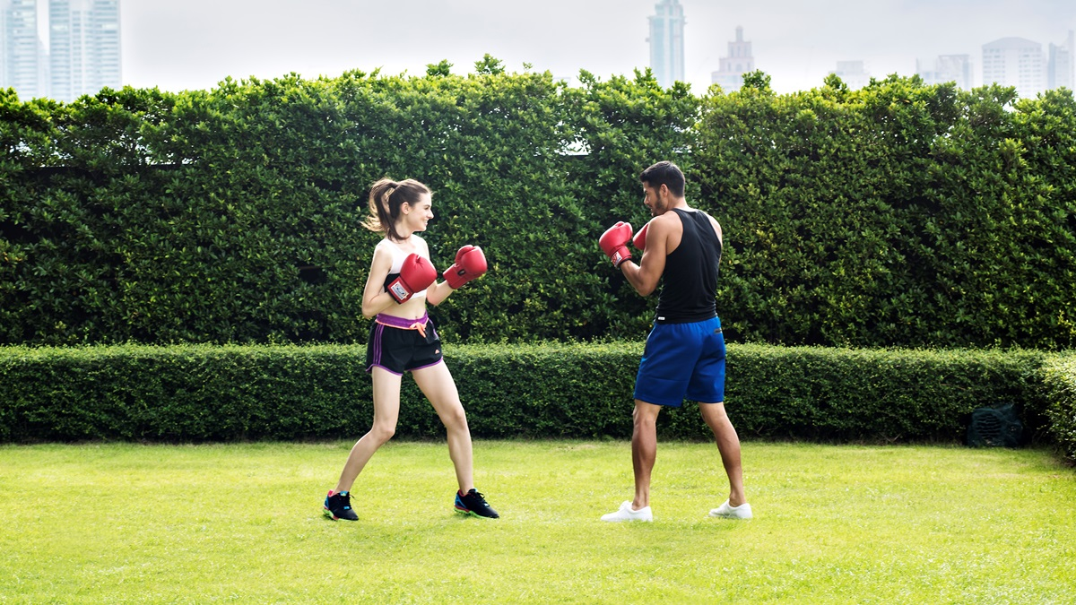 boxing session at sofit