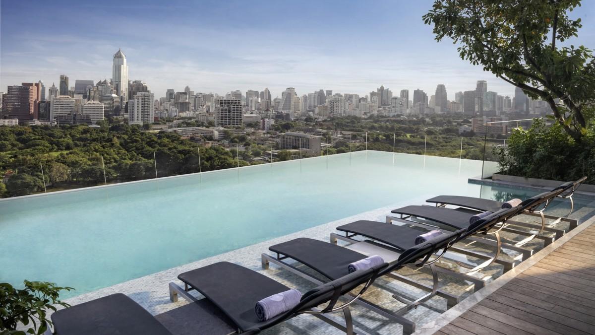 Pool with view bangkok