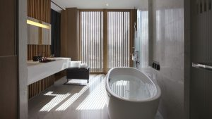 SO Studio Wood Element City View Suite Bathroom Bangkok - SO Sofitel Bangkok