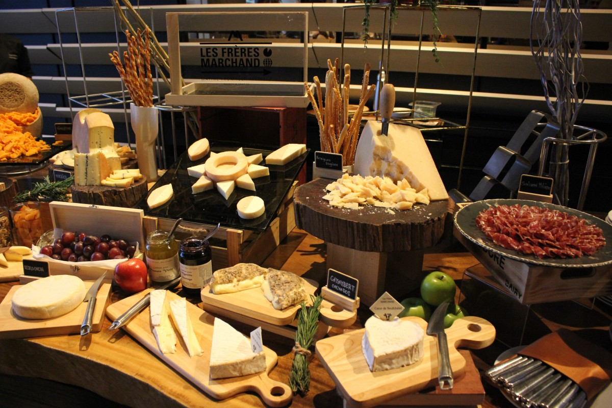 variety of cheese on cheese station at Cheese@SO