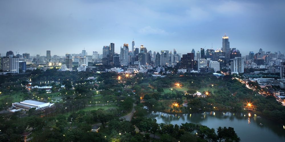 Lumphini Park View from SO Sofitel Bangkok