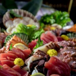 saturday brunch sashimi platter